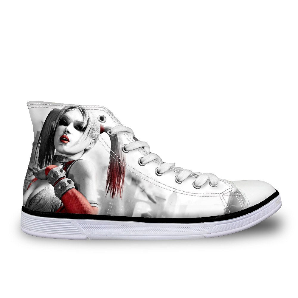 3a7eba2b7e6ec0 Harley Quinn Women Canvas Shoes (U.S Size) – Hero3D Shop
