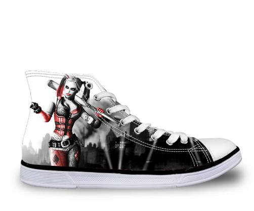 Shoes - Hot Harley Quinn  Canvas Shoes (U.S Size)