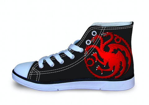 Shoes - House Targaryen Unisex Canvas Shoes (U.S Size)