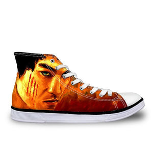 Shoes - New Bruce Lee Unisex Canvas Men Shoes High/Low Style