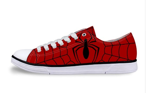 Shoes - Spiderman Unisex Low Top  Canvas Shoes (U.S Size)