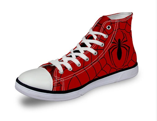 Shoes - Spiderman Unisex Printed  Canvas Shoes (U.S Size)