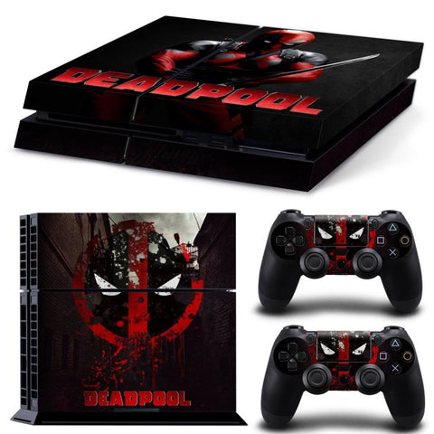 Skin - New Design DEADPOOL Skin Sticker For Ps4 Vinyl Protective Cover For Ps4 Console For Ps4 Controller Skin For Ps4 Sticker