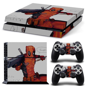 Skin - Super Gunner Deadpool Design Skin Sticker For PS4