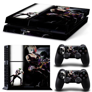 Skin - The Joker And Harley Quinn Skin Sticker For Ps4 Vinyl Protective Cover For Ps4 Console For Ps4 Controller Skin For Ps4 Sticker
