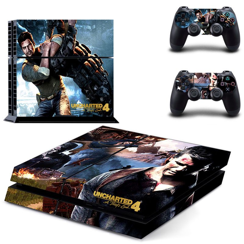 Uncharted 4 Drake Series Sic Parvis Magna Ps4 Skin Stickers For