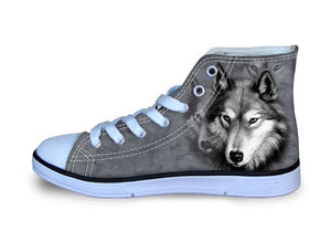 Wolf Shoes - Unisex Wolf Printed Canvas Shoes (U.S Size)