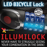 Illumilock Cable Bike Lock with LED Lighted Combination