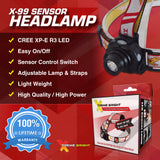 Xtreme Bright® X-99 Sensor LED Headlamp