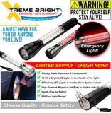 Xtreme Bright® LED Emergency Vehicle Flashlight with Powerful Magnet & 3 Light Modes