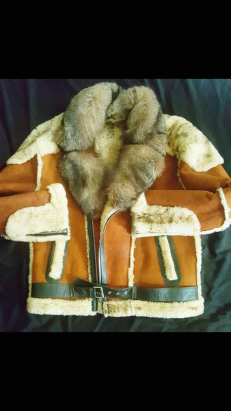 Sheepskin shearling moto - Reps And Scales