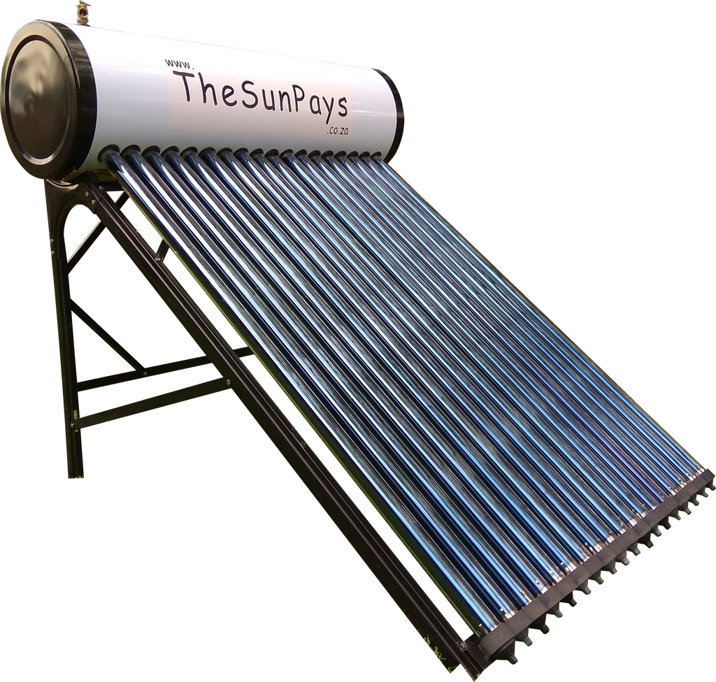 Low Pressure 150L Solar Geyser With Auxiliary Tank (5-Year Guarantee)