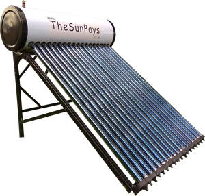 Low Pressure 200L Solar Geyser With Auxiliary Tank (5-Year Guarantee)
