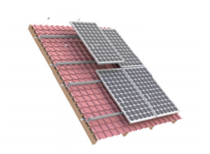 Solar Panel Mounting Kit - 4 Panels - Tile Roof