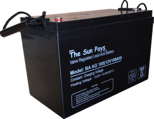 The Sun Pays - 100AH 12V Deep Cycle Gel Battery