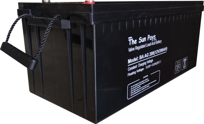 The Sun Pays - 200AH 12V Deep Cycle AGM/Gel Battery