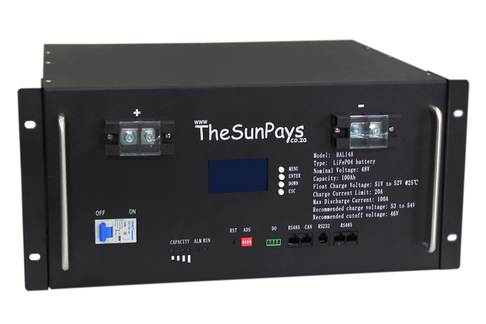 The Sun Pays 4.8 kWh Lithium Ion Battery Pack