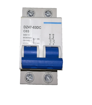63A DC Breaker - Double Pole: