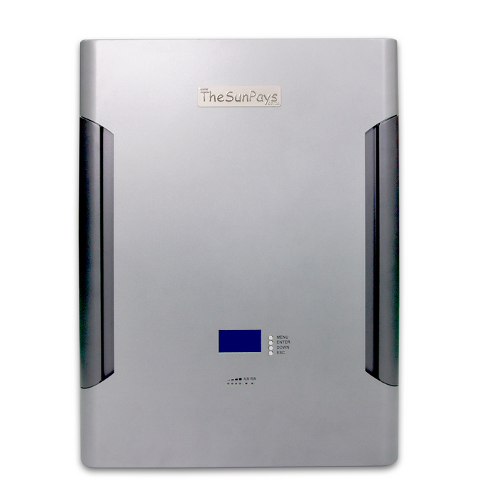 The Sun Pays 9.6 kWh Lithium Ion Battery Pack Wall Mountable