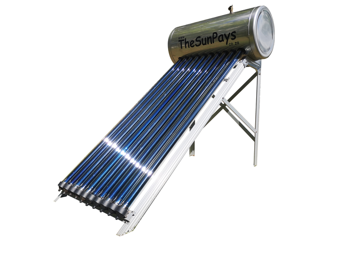 High Pressure 100L Stainless Steel Solar Geyser (5-Year Guarantee)