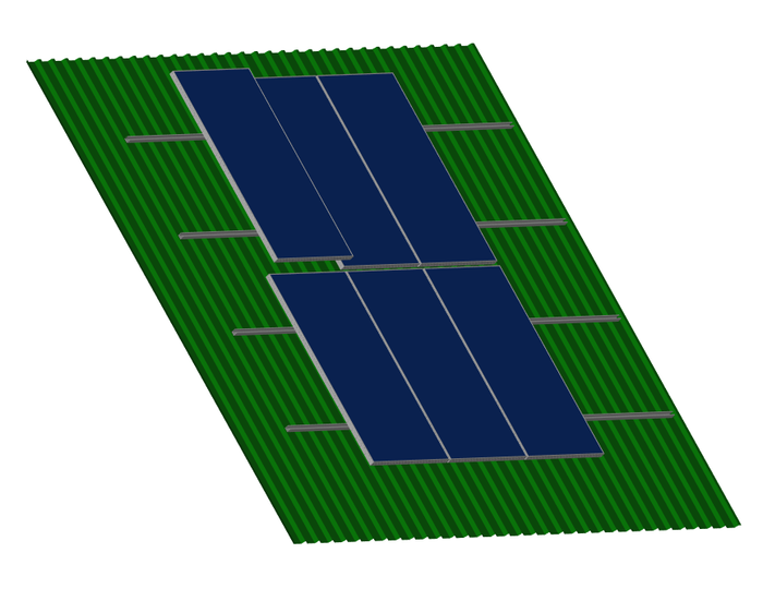 Solar Panel Mounting Kit -  4 Panels - IBR Roof