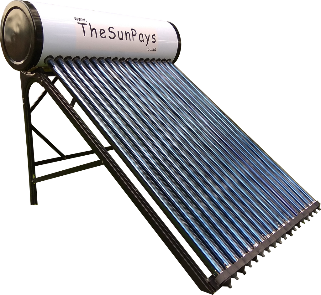 Low Pressure 100L Solar Geyser With Auxiliary Tank (5-Year Guarantee)