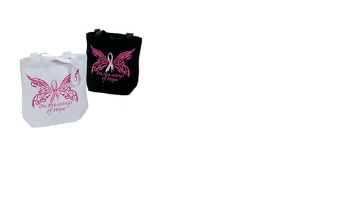 Breast Cancer Awareness Butterfly Tote