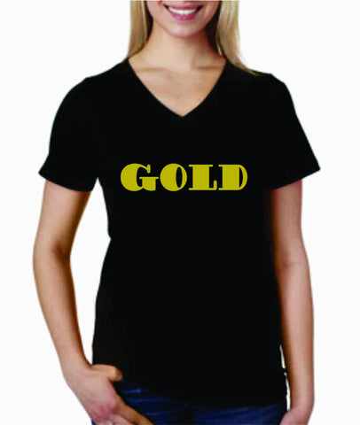 V-Neck T-Shirt (GOLD)