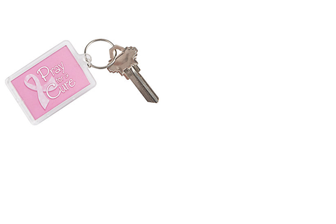Pray for a Cure Keychain