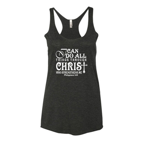Women's tank top (All Things Through Christ)