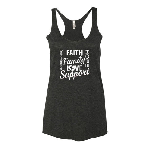 Women's tank top (Faith, Love, Hope)