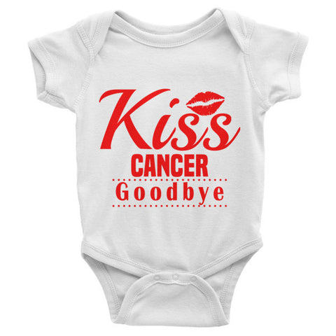 Infant short sleeve one-piece (Kiss Cancer Goodbye)