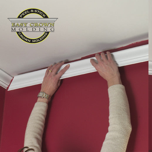 3M peel and stick  crown molding.