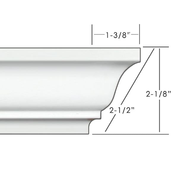"2.5"" Easy Crown Molding 156' kit."
