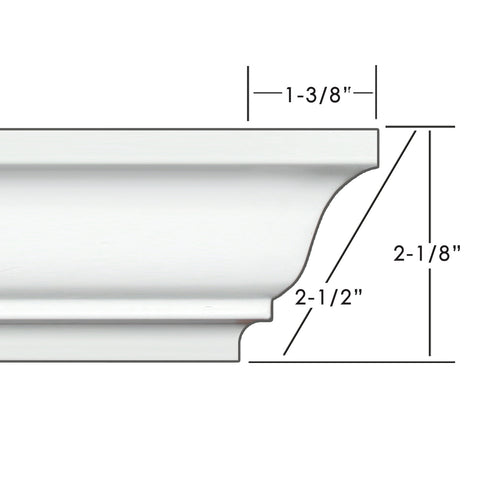 "2.5"" Easy Crown Molding 52' kit. Includes 12 inside and 4 outside corners."