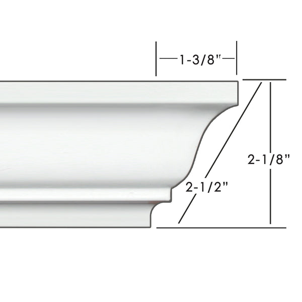 "2.5"" Easy Crown Molding 34' kit."