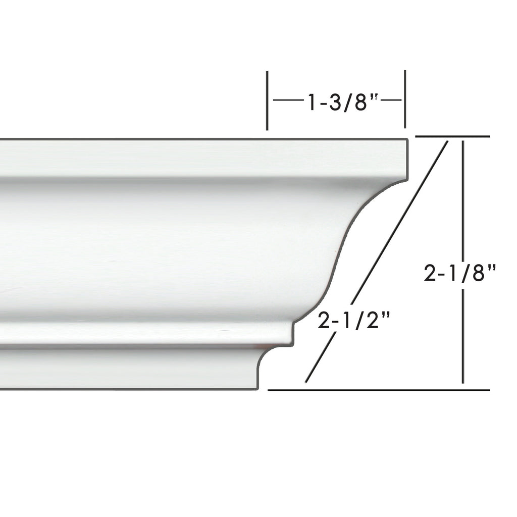 "2.5"" Easy Crown Molding 86' kit. Includes 20 inside and 4 outside corners."