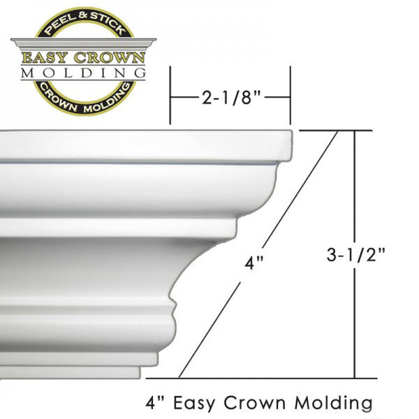 "4"" Easy Crown Molding 34' kit"