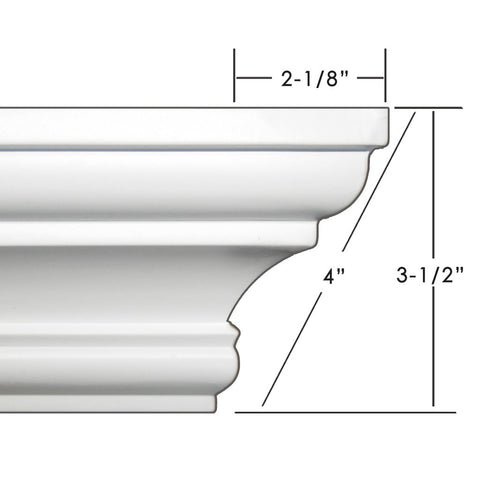 "4"" crown molding 52' kit."