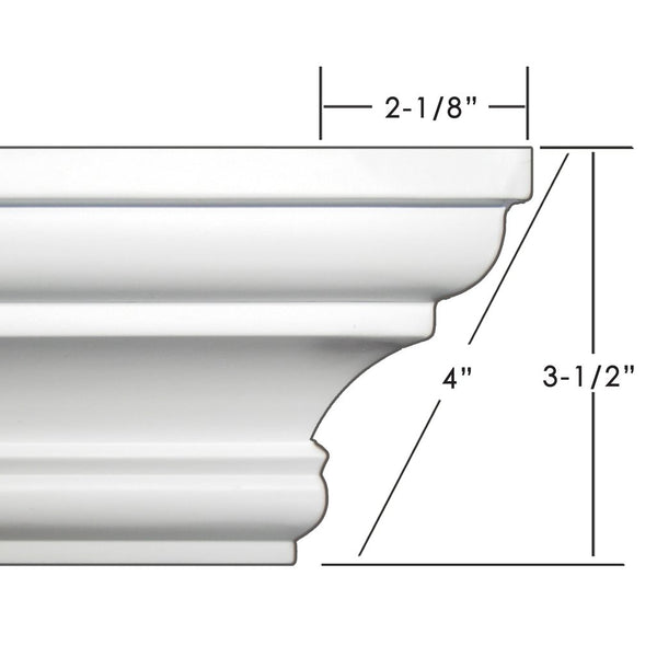 "4"" crown molding 104' kit."