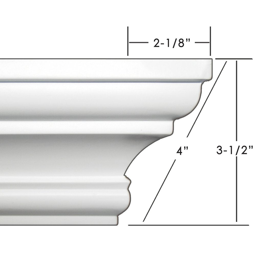"4"" crown molding 34' kit."