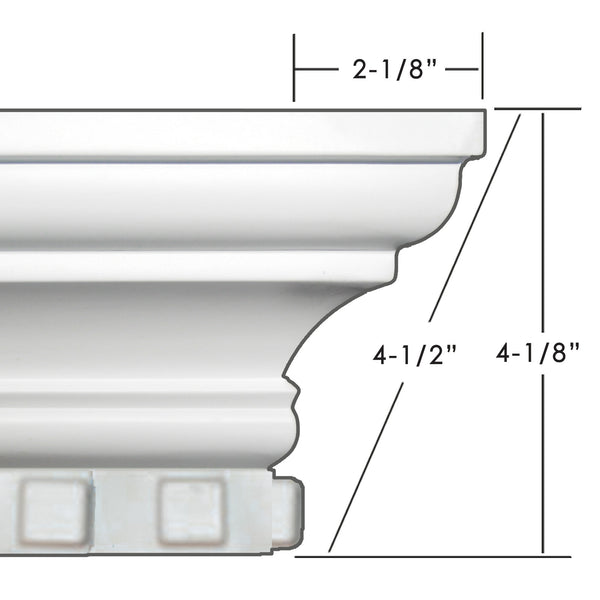 "4 1/2"" Easy Crown Molding 103' Room Kit."
