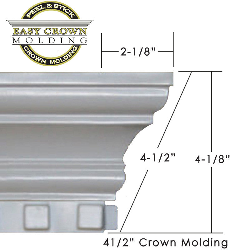"4.5"" dentil crown molding"