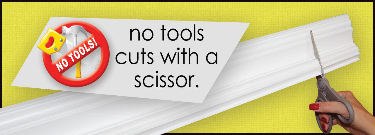Easy Crown Molding cuts with a scissor.