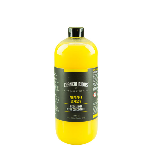 Pineapple Express spray wash 1 litre concentrate/refill - Trade Case (x6) - HS 340530, Bike Wash - Crankalicious