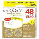 Rayovac ProLine Advanced Mercury-Free Hearing Aid Batteries, Size 10A- Value Pack