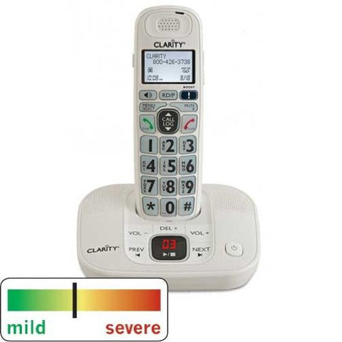 Clarity DECT 6.0 Amplified Cordless Phone with Digital Answering Machine