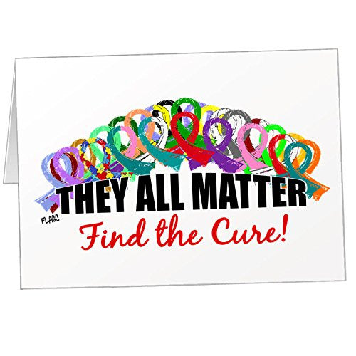 """They All Matter, Find the Cure"" Note Card Set"