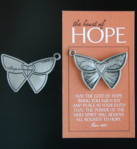 Heart of Hope Pewter Butterfly Token
