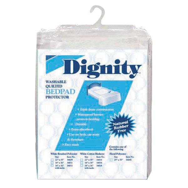 Washable Bed Pad, White Quilted Cotton, Premium Quality by Hartmann Dignity®